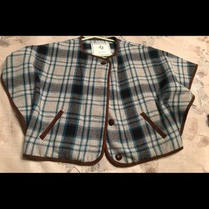 Janie and Jack plaid cape  jacket